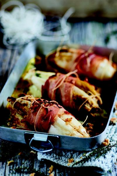 Fagottini di indivia belga al bacon e scamorza